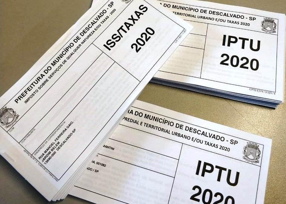 Prefeitura de Descalvado prorroga prazo para pagamento do IPTU e ISSQN de 2020