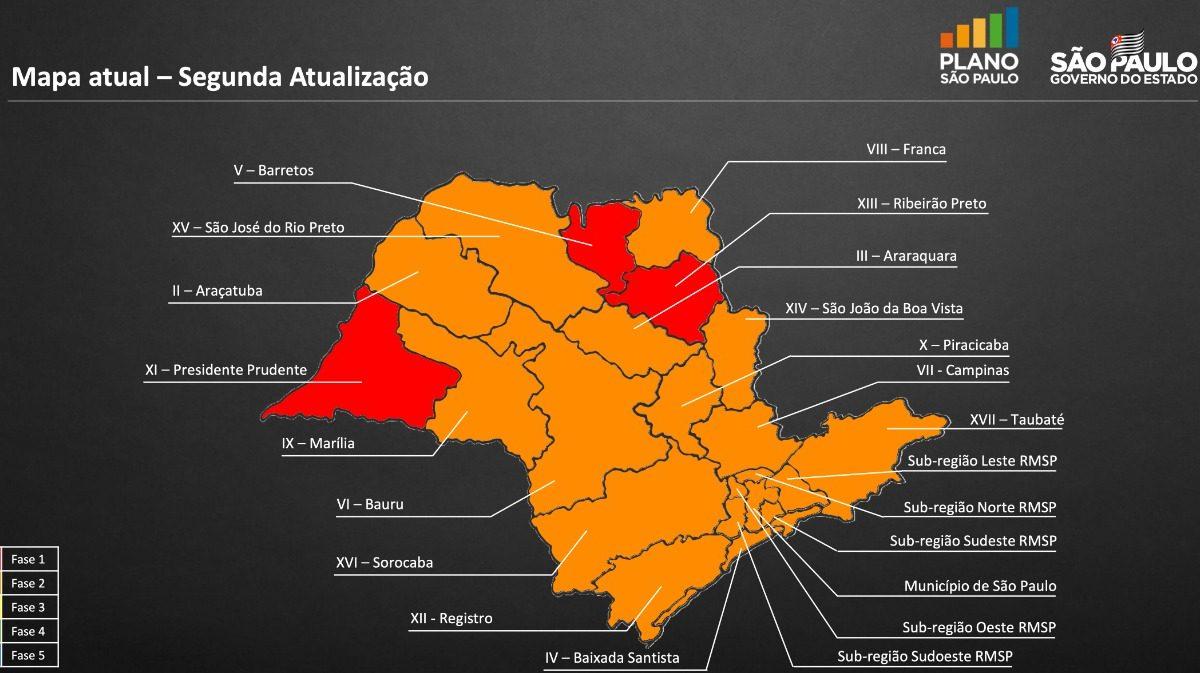 """Descalvado e outras 17 cidades da região são """"rebaixadas"""" para a Fase Laranja do Plano São Paulo, e bares e restaurantes devem fechar a partir de segunda-feira"""