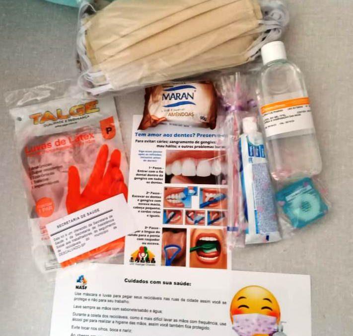 Prefeitura entrega aos catadores de recicláveis kits de proteção contra o novo coronavírus