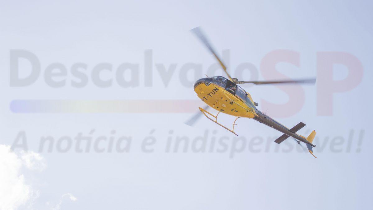 Helicóptero faz inspeção da rede elétrica em Descalvado