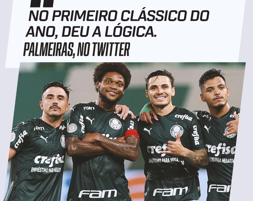 Palmeiras joga muito, atropela o Corinthians e ganha força na briga pelo título brasileiro