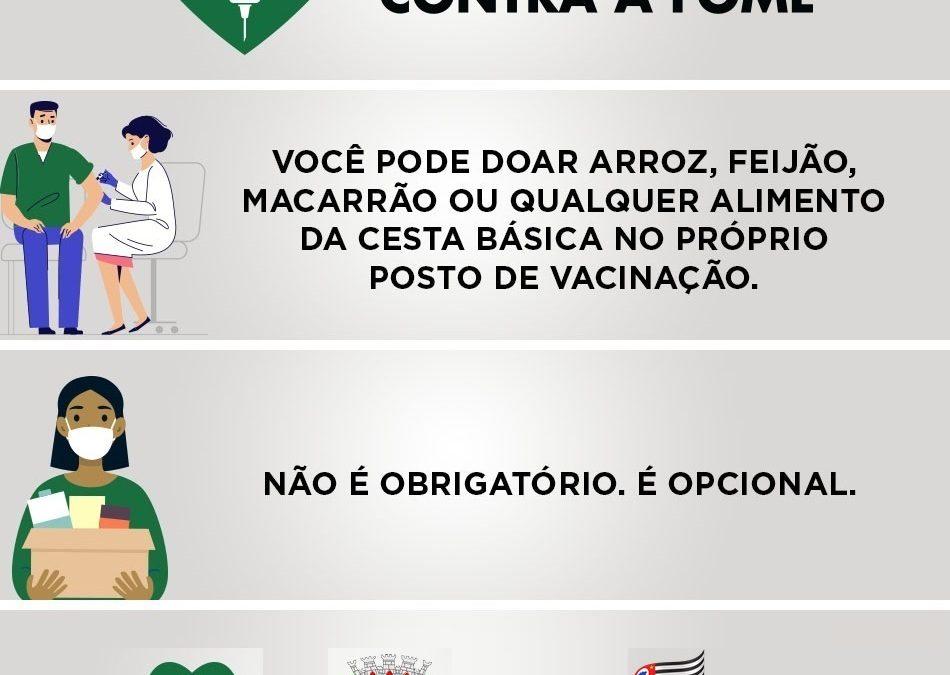 """Secretaria de Assistência Social lança a campanha """"Vacina contra a Fome"""""""