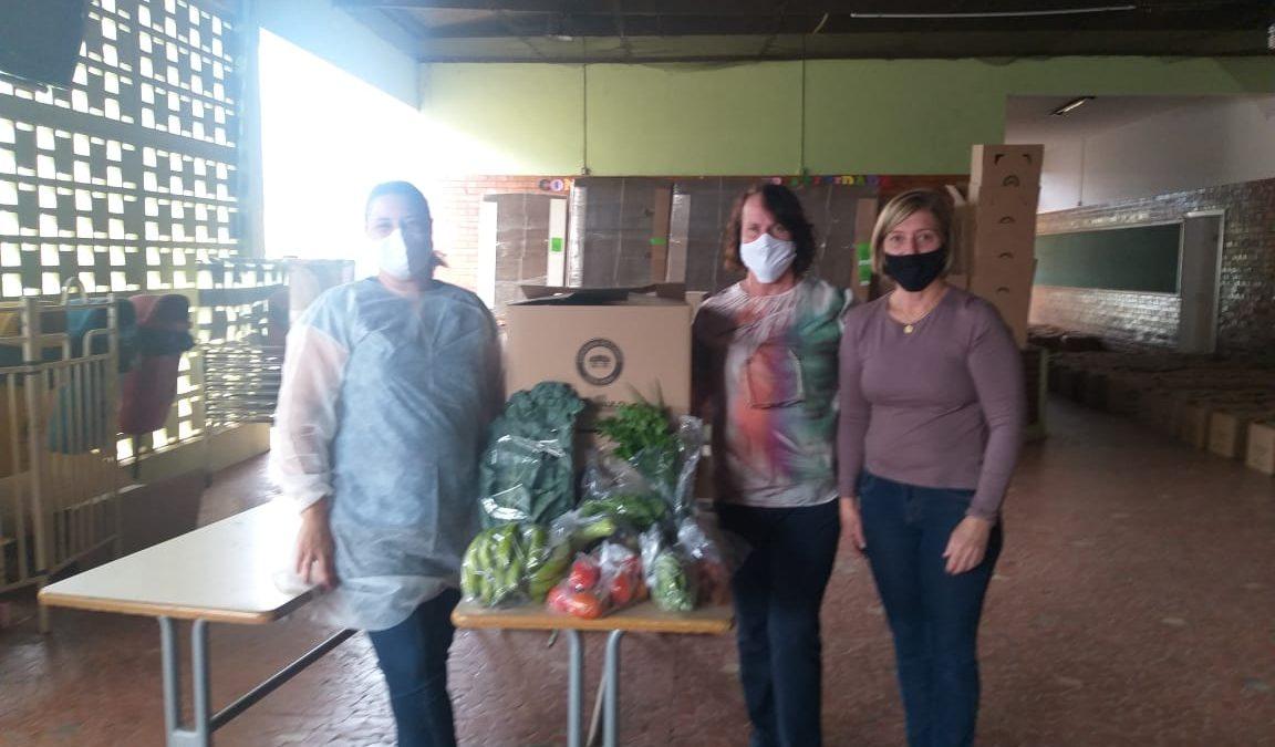 Primeira entrega de alimentos do 'Projeto Cesta Verde' aconteceu na ultima terça-feira