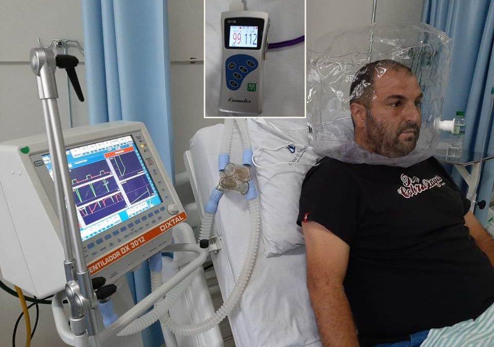 Descalvado recebe a doação de capacetes de oxigenação HELMET que ajuda na recuperação de pacientes com Covid
