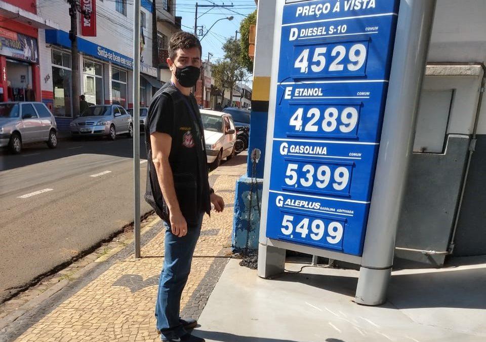 Procon realiza fiscalização em postos de combustíveis e agências bancárias