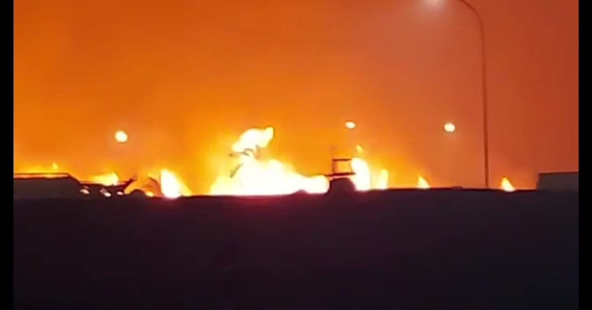 Incêndio de grandes proporções ao lado da Usina Ipiranga em Descalvado