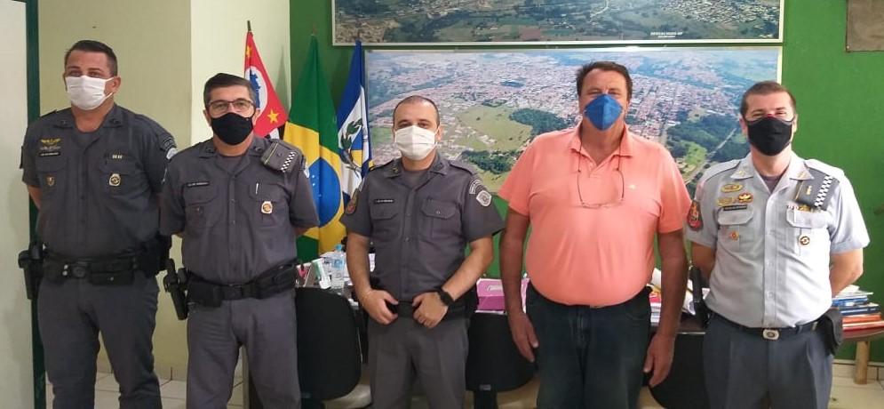Prefeito Becão recebe a visita do novo comandante do 38º Batalhão da PM